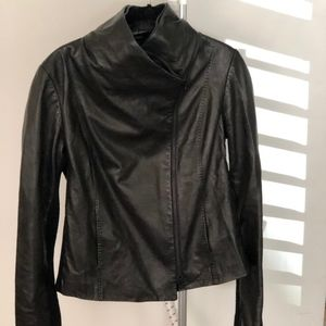 VINCE. LEATHER JACKET